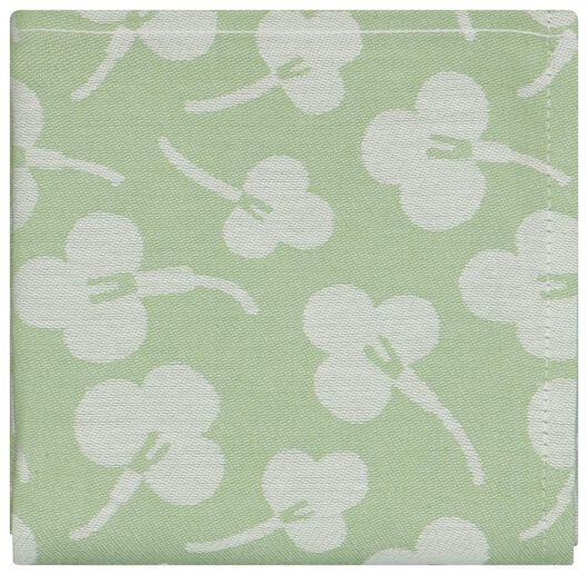 Geschirrtuch, 65 x 65 cm, Baumwolle, Veilchen, hellgrün - 5410119 - HEMA