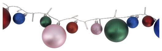 HEMA Lichterkette, Weihnachtsbaumkugeln Bunt, 40 LED-Lämpchen, 3 Meter
