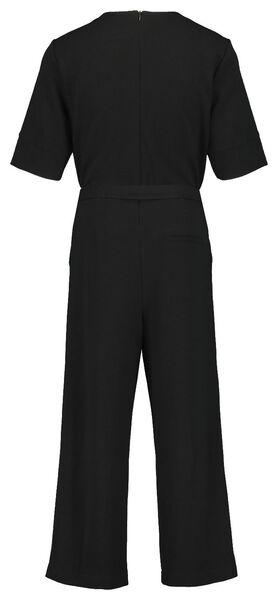 Damen-Jumpsuit, Feinripp schwarz schwarz - 1000023336 - HEMA