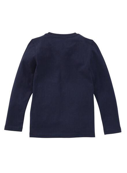 Kinder-Shirt, Biobaumwolle dblau 98/104 - 30719329 - HEMA