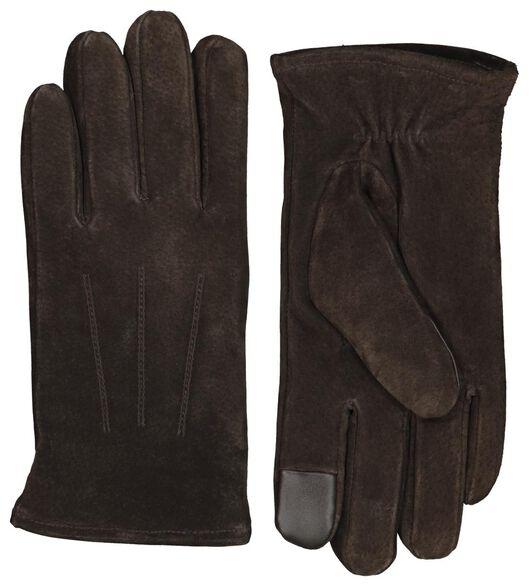 Herren-Wildlederhandschuhe braun braun - 1000021744 - HEMA