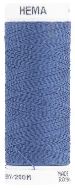 machine/handgaren 200meter jeansblauw machinegaren blauw - 1422030 - HEMA