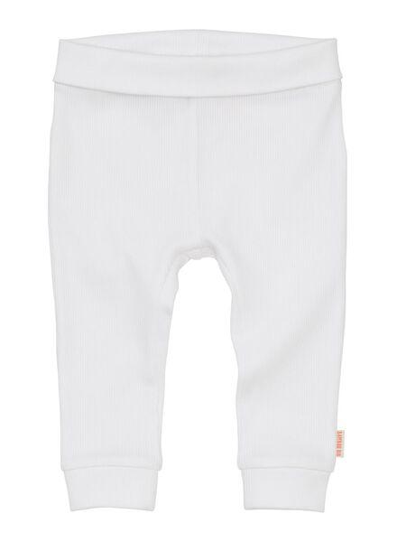 newborn-premature trousers bamboo stretch white white - 1000013404 - hema