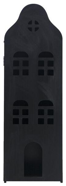 maison de canal 24.5x25x75 bois noir tableau noir - 15130037 - HEMA