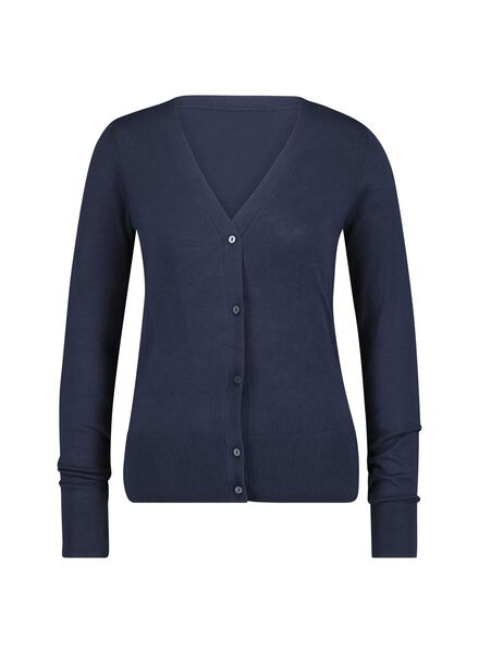 women's cardigan dark blue dark blue - 1000014777 - hema