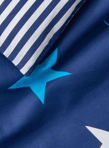 kids duvet cover - soft cotton - 140 x 200 cm - blue stars - 5700101 - hema