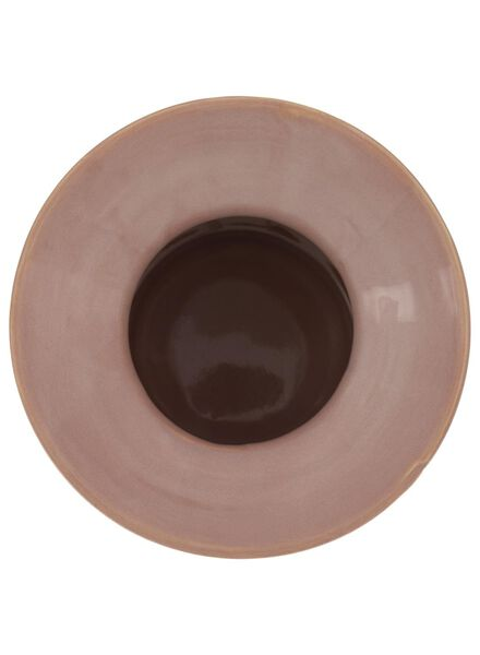 Vase – 19 cm – reaktive Glasur – rosa - 13392041 - HEMA