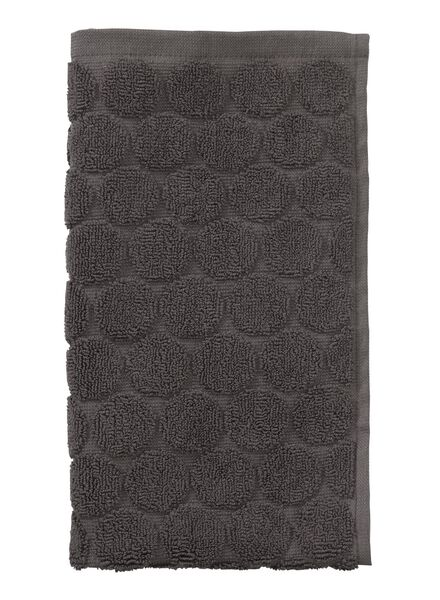 guest towel - 30 x 55 cm  - heavy quality - dark grey dot dark grey guest towel - 5200055 - hema