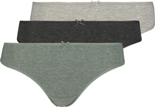 3-pack women's thongs green green - 1000018553 - hema