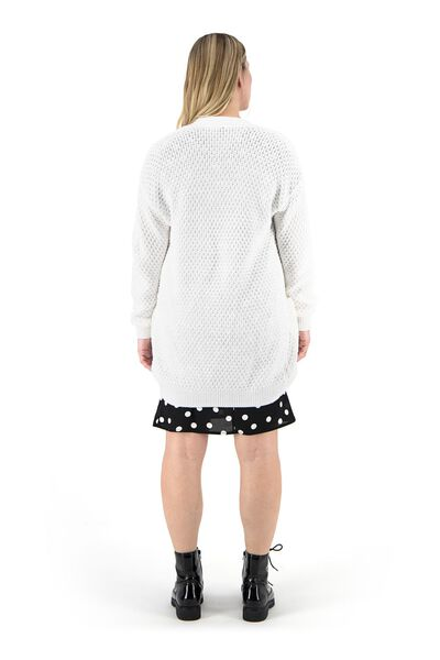 women's knitted cardigan off-white off-white - 1000019465 - hema