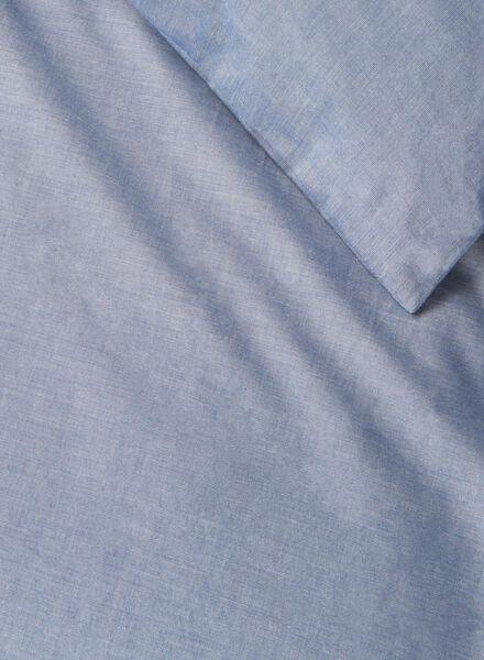 housse de couette-coton chambray-140x200cm-bleu - 5700074 - HEMA