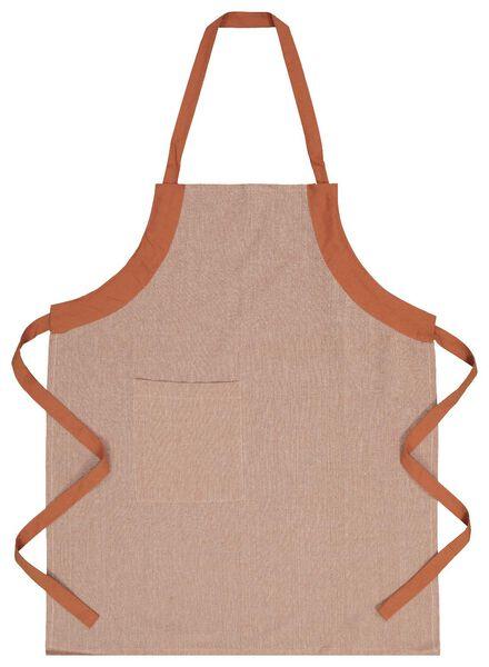 kitchen apron chambray cotton - terracotta - 5410087 - hema