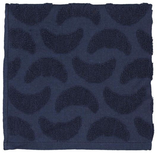 kitchen towel 50x50 cotton - blue croissant - 5400061 - hema