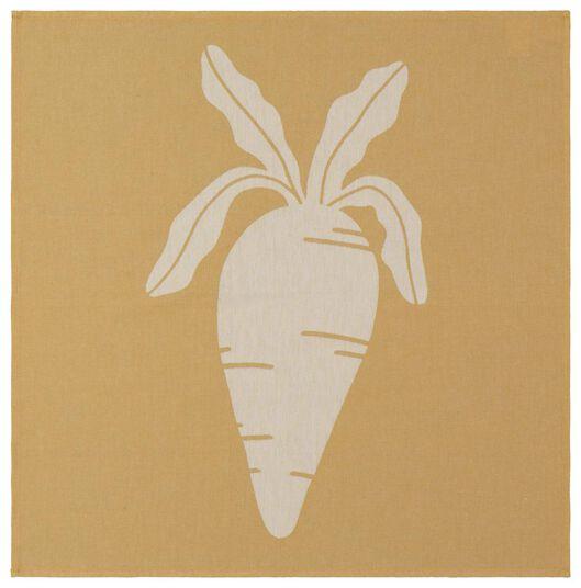 ensemble torchon et essuie-mains - coton - carotte - 5400057 - HEMA