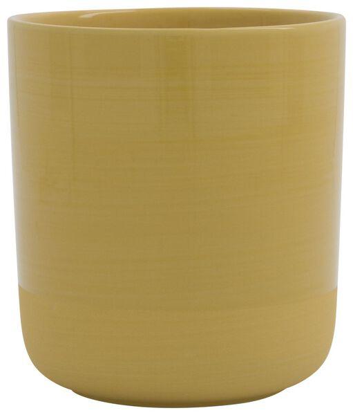 flower pot Ø12x11.5 XS matt-shiny earthenware yellow - 13311085 - hema