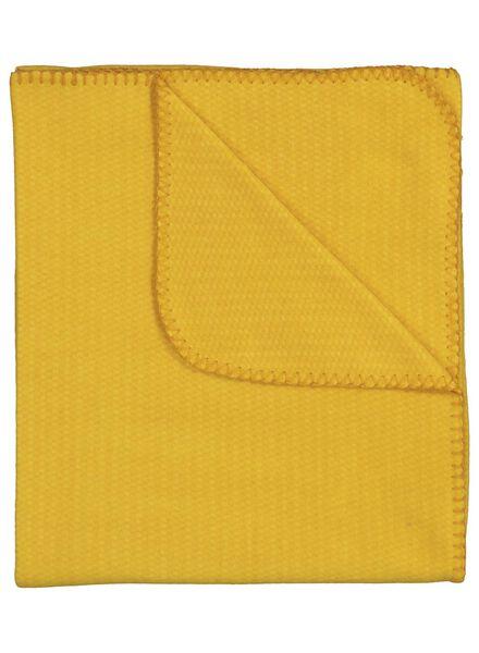 plaid tissu polaire - 130 x 150 - jaune ocre - 7392000 - HEMA