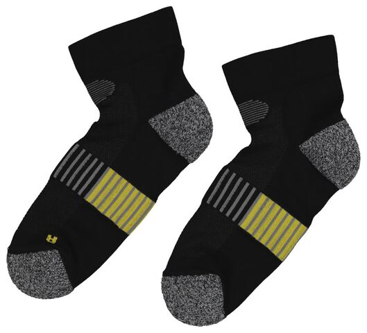 2-pack running socks black black - 1000019391 - hema