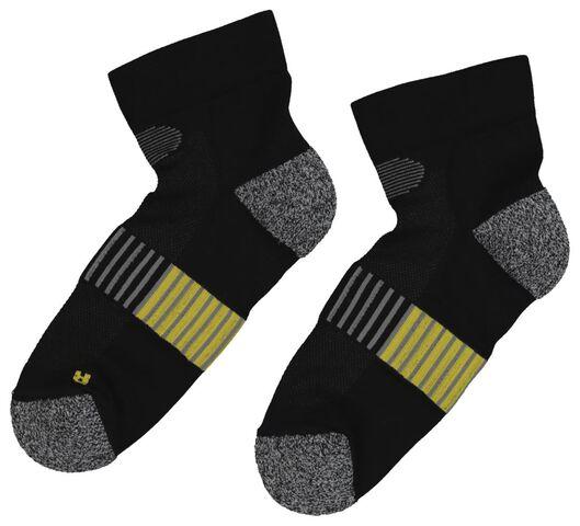 2 paires de chaussettes de sport running noir noir - 1000019391 - HEMA
