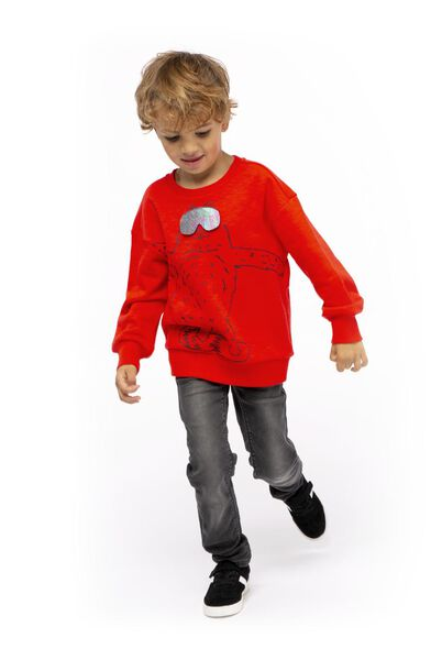 children's sweater bear red red - 1000017413 - hema