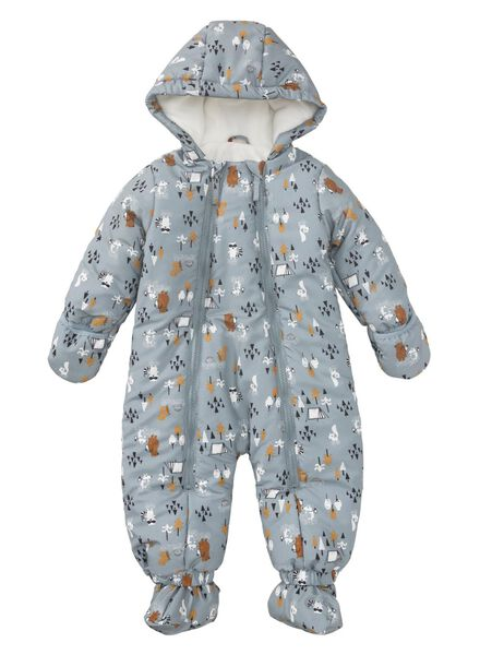 Babyregenwintermode - HEMA Baby Skianzug Dunkelgrau - Onlineshop HEMA