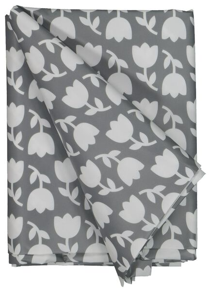table oil-cloth 140x240 polyester - tulips grey/white - 5390006 - hema