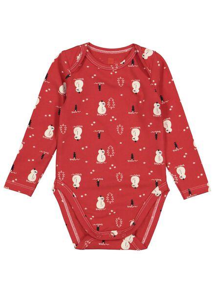 body nouveau-né en coton biologique stretch rouge rouge - 1000016576 - HEMA