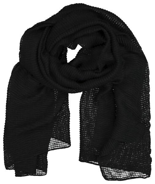 écharpe femme 200x80 froissé noir - 1790018 - HEMA