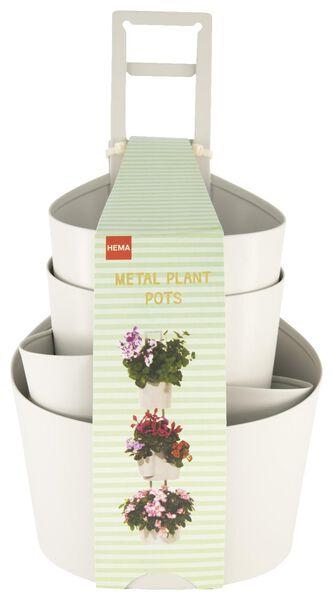 HEMA 3er-Pack Metall-Blumentöpfe