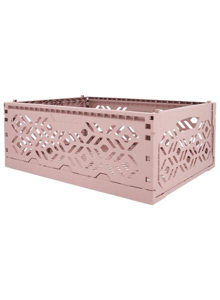 caisse pliante recyclée 39 x 29 x 15 cm - rose rose 39 x 29 x 15 - 39892906 - HEMA