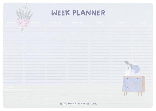 planificateur hebdomadaire avec bande aimantée - 14132313 - HEMA