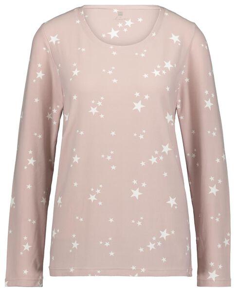 damespyjama micro roze roze - 1000020326 - HEMA