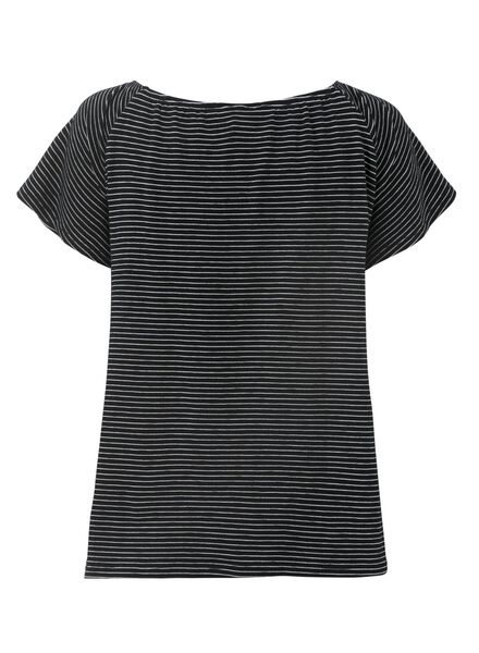 women's T-shirt black/white black/white - 1000007500 - hema