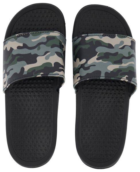 slippers maat 38-39 camouflage groen - 14590462 - HEMA