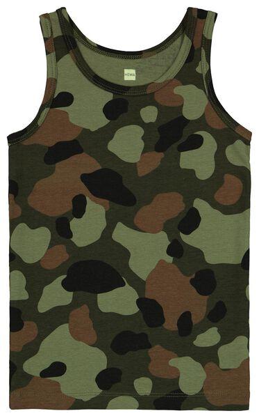 2er-Pack Kinder-Hemden, elastische Baumwolle, Tarnflecken grün grün - 1000024644 - HEMA