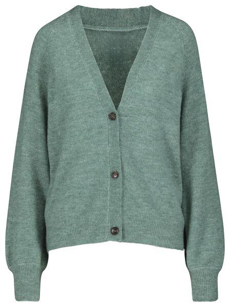 women's knitted cardigan light green light green - 1000017994 - hema