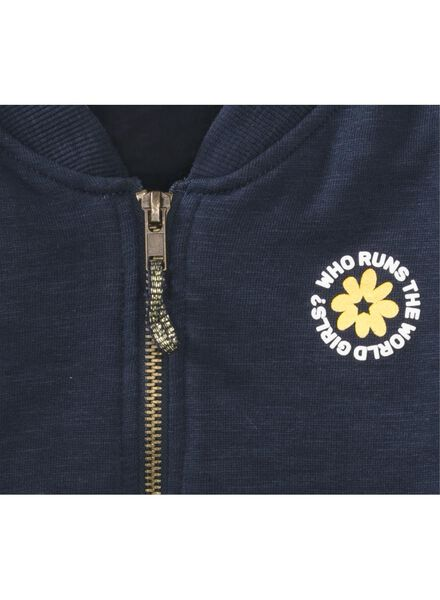 children's sweatshirt fabric bomber jacket blue blue - 1000006030 - hema