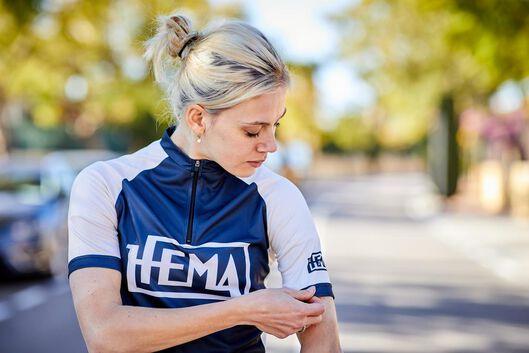maillot de cyclisme HEMA 95 bleu foncé bleu foncé - 1000024250 - HEMA