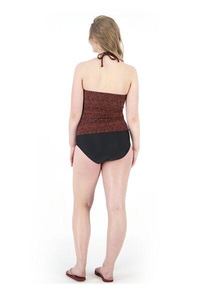 women's tankini strapless medium control dark red dark red - 1000017945 - hema