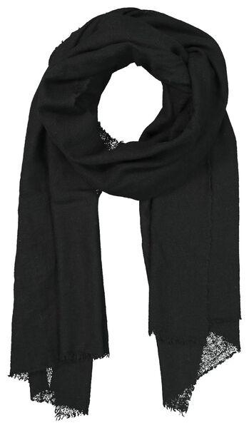 écharpe femme 200x60 laine mélangée noir - 1790025 - HEMA