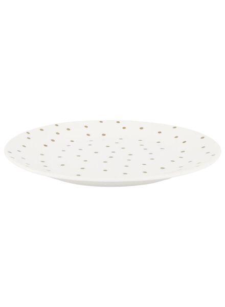 Frühstücksteller Bergen, 20 cm, weiß mit goldenen Punkten - 9602060 - HEMA