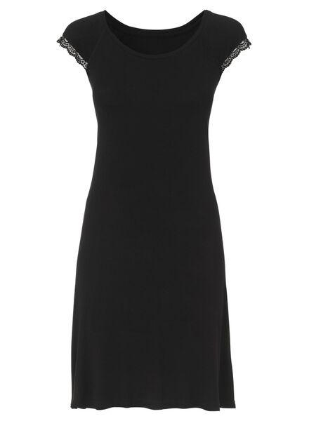 Damennachthemd schwarz schwarz - 1000002899 - HEMA