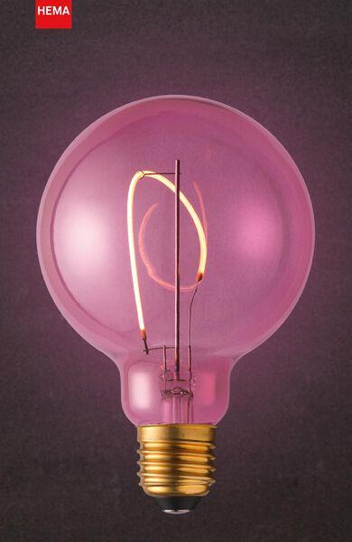 LED-Lampe, 4 W, 150 lm, Kugel, G95, rosa - 20000020 - HEMA