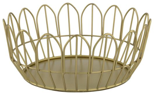 Image of HEMA Bread Basket Metal Gold Ø 17.5