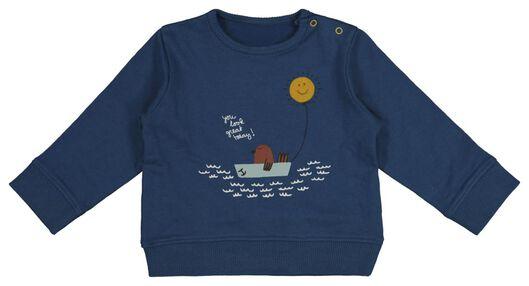 Babyoberteile - HEMA Newborn Sweatshirt Blau - Onlineshop HEMA
