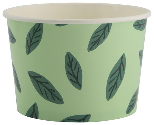 5 small paper bowls 10 cm leaf green - 25800134 - hema