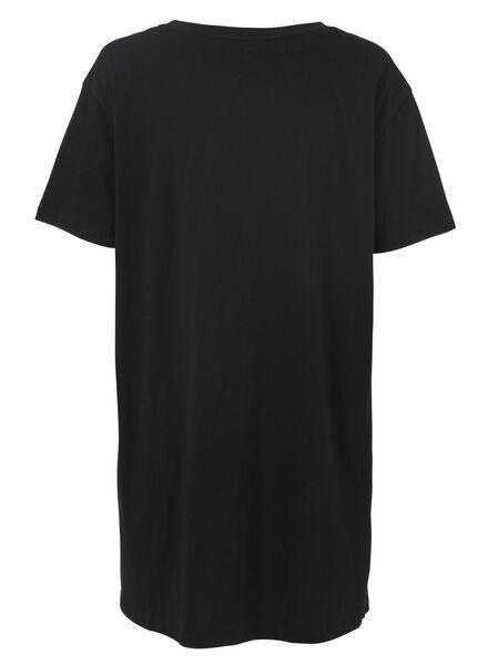 Damen-Nachthemd, Baumwolle schwarz schwarz - 1000011753 - HEMA