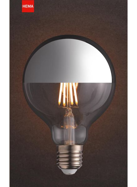 LED lamp 4W - 280 lm - globe - silver-coloured upward reflecting - 20020061 - hema
