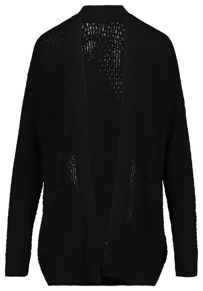 women's knitted cardigan black black - 1000019238 - hema