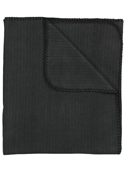 plaid tissu polaire - 130 x 150 - gris - 7392002 - HEMA