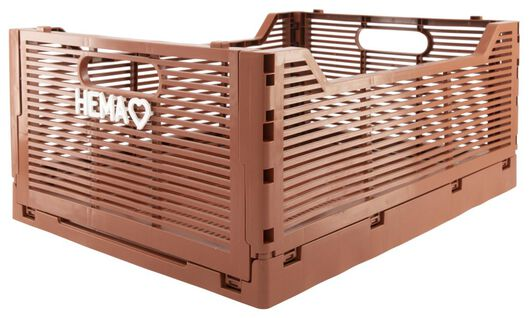 caisse pliante tableau recyclée 30x40x17 - marron - 39821025 - HEMA